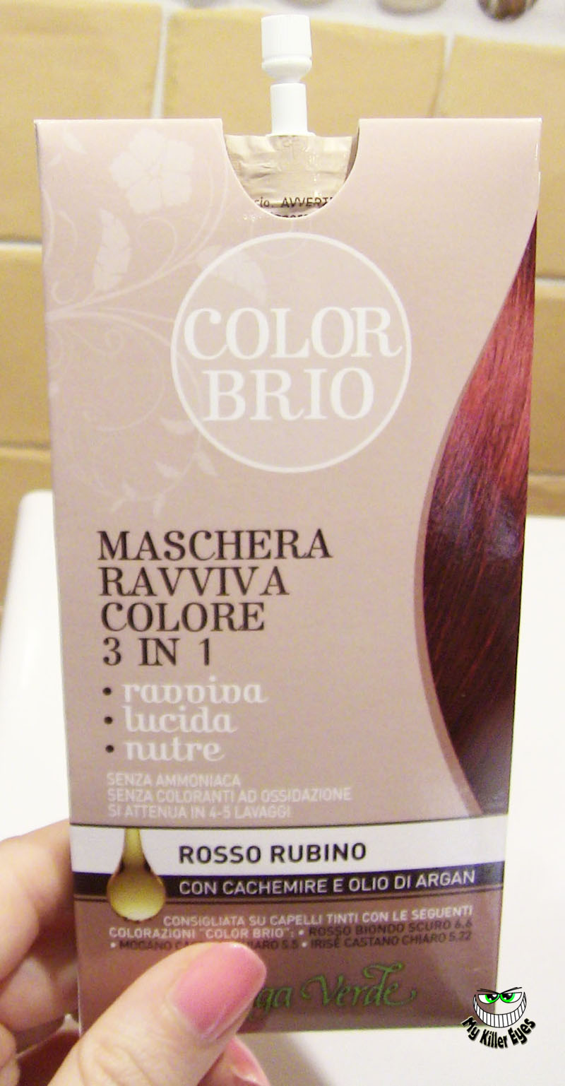Maschere colorate per capelli rossi